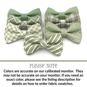 Dusty Sage Gingham Bow Tie