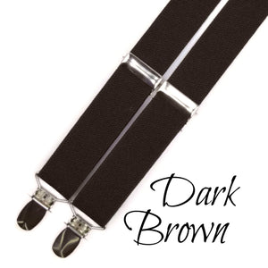 dark brown suspenders