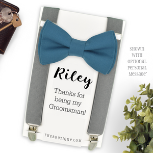 teal blue ring bearer gift