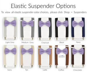 amethyst bow tie and suspenders