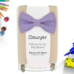 lavender ring bearer gift
