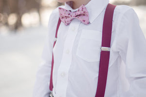 "Burgundy Suspenders in ""Marsala"""