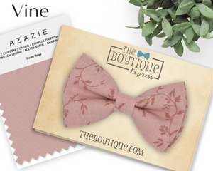 Dusty Rose Bow Tie and Suspenders