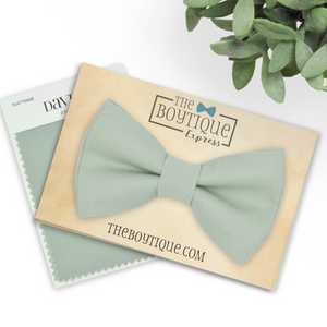 dusty sage bow tie