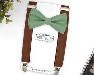 Sage Bow Tie and Suspenders