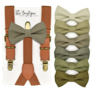 rustic bow tie and suspenders