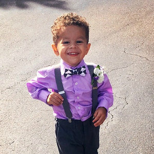 Boy's Charcoal Suspenders for weddings and events