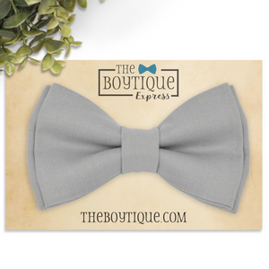 medium gray bow tie