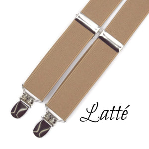 Latte Suspenders Light Brown Suspenders
