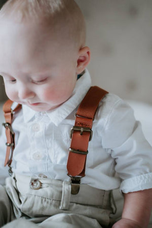 Leather Buckle Suspenders