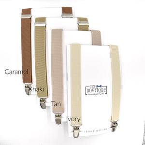 light brown suspenders khaki suspenders tan suspenders