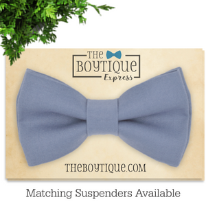 light denim bow tie