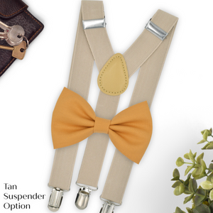 Marigold Bow Tie and Suspender Set in YL10