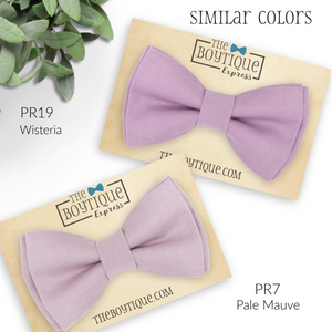 mauve bow ties
