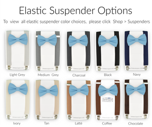 peacock bow tie and suspenders sets