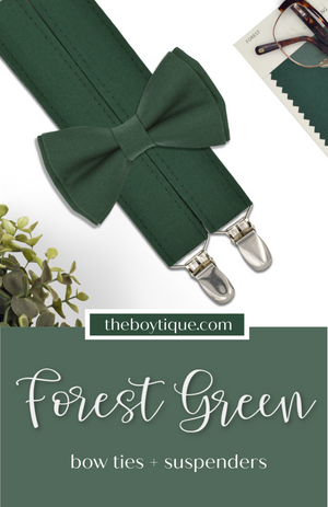 Forest Bow Tie and Suspenders