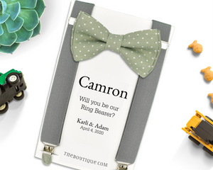 sage green ring bearer gift