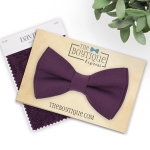 david's bridal plum bow tie