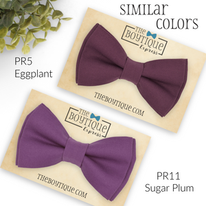 Plum Bow Tie in PR22