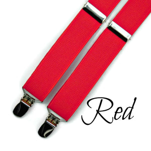 Men's Red Suspenders