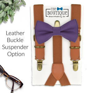 regency bow tie and leather suspenders