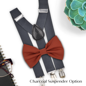sienna bow tie and suspenders