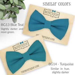 turquoise bow ties