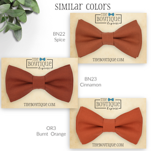 burnt orange bow ties