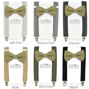 boy's bow tie and toddler suspenders