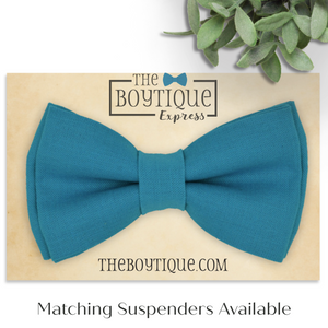 teal blue bow tie