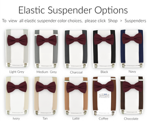 Wine Bow Tie and Suspenders
