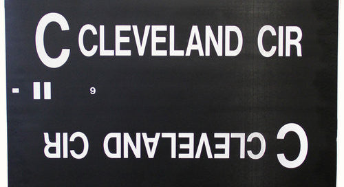 C Cleveland Circle Roll Sign (Type 7 Side Destination)