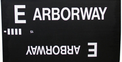 E Arborway Roll Sign (Type 7 Side Destination)
