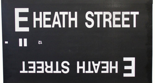 E Heath Street Roll Sign (Type 7 Side Destination)