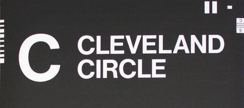 C Cleveland Circle Roll Sign (Type 7 End Destination)