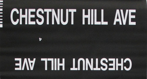 Chestnut Hill Ave Roll Sign (Type 7 Side Destination)