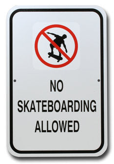 No Skateboarding Small Warning Sign
