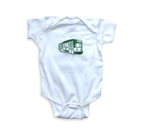 MBTA Green Line Trolley Onesie
