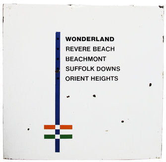 Orient Heights Blue Line Outbound Station Sign/Map