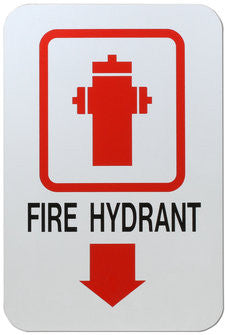 Fire Hydrant Warning Sign