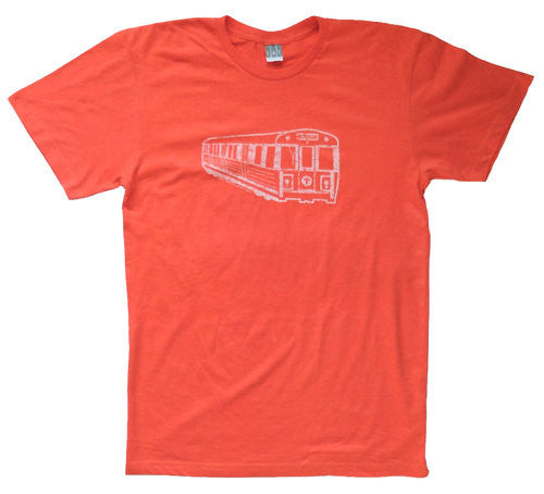 Orange Line Subway Car T-Shirt (Adult Unisex)