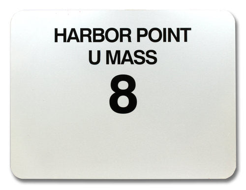 Route 8 Harbor Point UMass Bus Sign