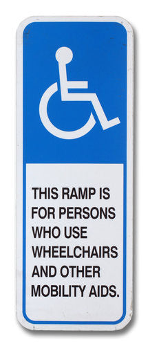 Handicapped Ramp Sign