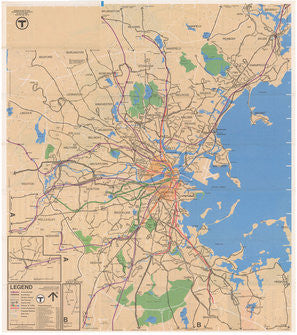 1977 (Spring-Summer) MBTA System Map