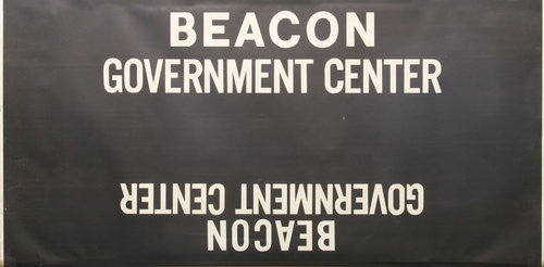 Beacon Government Center Roll Sign (Boeing LRV Side Destination)