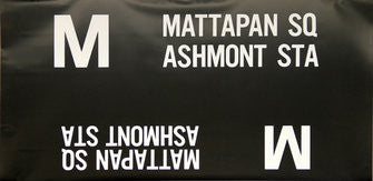 M Mattapan Sq Ashmont Sta Roll Sign (Boeing LRV Side Destination)