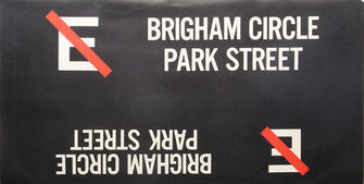 E Brigham Circle Park Street Roll Sign (Boeing LRV Side Destination)