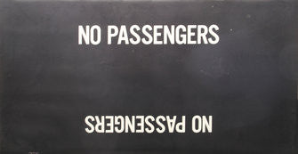 No Passengers Roll Sign (Boeing LRV Side Destination)