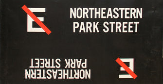 E Northeastern Park Street Roll Sign (Boeing LRV Side Destination)