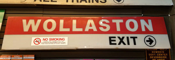 Wollaston Red Line Station Sign
